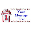 PERSONALIZED FOOTBALL SHIRT BANNER