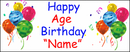 PERSONALIZED CLASSIC BALLOON AGE BANNER