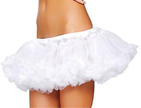 Muka Organza White Tutu Dress for Halloween Costume, Ballet Tutu, White Swan Tutu
