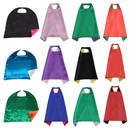 Muka Double-side Satin Superhero Capes for Adult & Kid, Assorted Colors 12Pcs