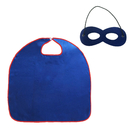Muka Adult & Kid Superhero Capes with Felt Mask Set For Halloween Costume