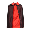 TopTie Kid's Black Red Reversible Cloak Role Cape Halloween Party Costume Cape