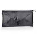 Snake Skin PU Leather Envelope Clutch - Black, Gift Idea