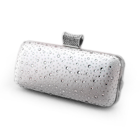 Diamantes Decorated Elegant Clutch Evening Hand Case
