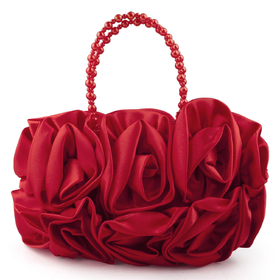 TopTie Bouquet Rose Clutch, Red Wedding Handbag, Gift Idea