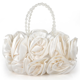 TopTie Bouquet Rose Clutch, Ivory Wedding Handbag, Gift Idea