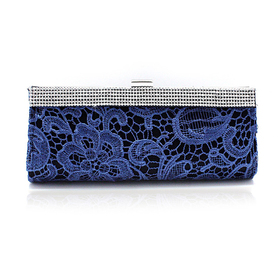 TopTie Hollow-out Flower Pattern Evening Clutch - Royal Blue