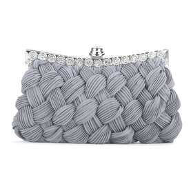 Woven Pattern Handbag, Satin Evening Bag, Gift Idea