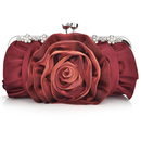 TopTie Satin Clutch, Rose Evening Handbag, Gift Idea