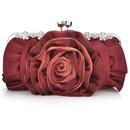 TopTie Satin Clutch, Rose Evening Handbag, Gift Idea