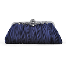 TopTie Pleated Satin Clutch, Retro Evening Handbag, Gift Idea