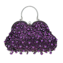 TopTie Cute Beaded Sequin Design Handbag Bridal Bag Removable Handle