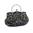 TopTie Retro Embroidery Paisley Bead Handbag Evening Bag
