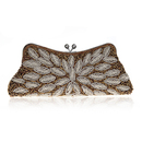 TopTie Exquisite Beaded Leave Evening Clutch Handbag