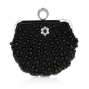TopTie Single Ring Faux Pearl Frame Bag, Rhinestone Adorned