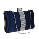 TopTie Diamante Clutch Case, Satin Evening Handbag