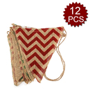 Aspire 12PCS Vintage Burlap Pennant Banner, 14.8 Feet, Perfect for Wedding, Party, Festival, Photo Props