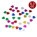 "Aspire 6 Packs 3600pcs Table Confetti Party Confetti, Heart, 4.2oz, 0.6"", Delicate Decoration"