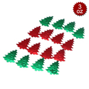 Aspire 6 Packs Merry Christmas Table Confetti, 3oz, 1200pcs, Metallic Christmas Tree Shape Decoration