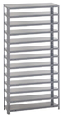 "Quantum Storage 12"" x 36"" x 75"" Unit, 13 Shelves (Shelf Bin Unit - No Bin)"