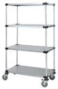 Quantum M1848SG46 4 Solid Shelf Mobile Carts (Outside Dimensions: 48