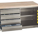 Quantum QSC-60-BENCH Jumbo Storage And Security Cabinets With Bins, 60