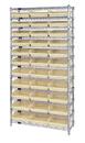 Quantum WR12-109 Shelf Bin Wire Shelving System, 33 QSB109 BINS