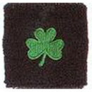 Unique Sports Shamrock Wristband, Black/Green