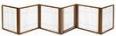 Richell 94171 6 Panel Convertible Elite Pet Gate - Autumn Matte