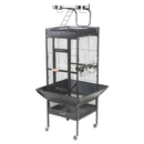 Prevue Hendryx PP-3151BLK Small Wrought Iron Select Bird Cage - Black