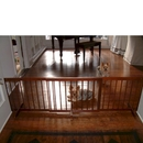 Cardinal SGWA Step Over Pet Gate - Walnut