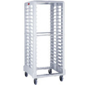 Rubbermaid FG331900OWHT Max System Rack (18 slot side loader for food boxes and sheet pans), Off White