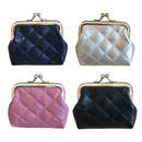 Aspire 12PCS Quilted Leather Change Purse with Clasp, Buckle Coin Purse, 3 9/16