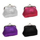 Aspire 12 Counts Sequined Double Coin Purse, Exquisite Purse for Girl