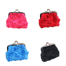 Aspire 12PCS Elegant Rose Buckle Coin Pouch, Double Coin Purse for Wedding Favor