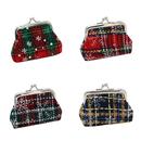 Aspire 12 Pieces Snowflake Plaid Mini Buckle Purse, Christmas Gift Idea
