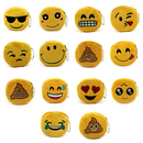 Aspire 12 Pieces Cute Emoticon Soft Plush Coin Purse, 4 Inch Party Favor Pouch