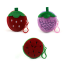 Aspire 12PCS 3 Inch Cartoon Fruit Pouch with Key Chain, Party Supplies Favors