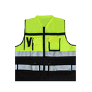 GOGO High Visibility Safety Vest with Reflective Strips and Pockets