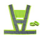 GOGO High Visibility Reflective Running Vest Including 2 Wristbands Fits Most Adults