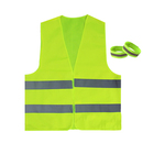 GOGO Best Reflective Vest with 2 Armbands for Safety Outdoor Working, One Size Fits Most Adult