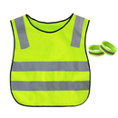 GOGO High Visibility Student Reflective Traffic Vest Best Protector for Children, Reflective Vest & 2 Armbands Included