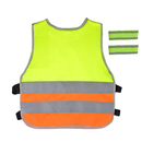 GOGO Kid's Safety Outdoor Sports Gear For Running, Cycling, Walking, 1 Reflective Vest and 2 Wristbands Included