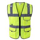 GOGO 5 Pockets Ultra Cool Mesh Safety Vest, Mesh Volunteer Vest, ANSI Standard for Men and Women