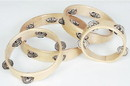 "Rhythm Band Instruments RB525XNH 6"" RBI Headless Wood Rim Tambourine - 4 (pr) Jingles. (single row jingles)"