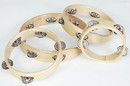 "Rhythm Band Instruments RB527NH 10"" RBI Headless Wood Rim Tambourine - 4 (pr) Jingles. (single row jingles)"