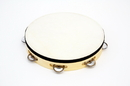 "Rhythm Band Instruments RB527 10"" Tambourine RBI Wood Tambourine with - 7 (pr) Jingles."