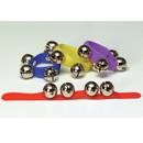 Rhythm Band Instruments RB811CS Colored Asstmt 12 Wrist Bells/velcro