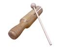 Rhythm Band Instruments  Bamboo LG Guiro Tone Block w/ Mallet