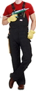 ROUND HOUSE Men's Black Duck  Bib Overalls (12 oz. - full double knees)